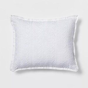 Simply Shabby Chic Embroidered Throw Pillow White